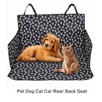 Wholesale rear car carrier for sale - new arrival Pet Dog Cat Car Rear Back Seat Carrier Cover Mat Blanket Hammock Cushion Protector Polyester Waterproof Mat Adjustable Belt