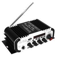 amplificateur mp3 usb achat en gros de-2CH HI-FI Bluetooth Voiture Audio Amplificateur de Puissance FM Radio Lecteur pour Voiture Moto Accueil Soutien SD / USB / DVD / MP3 Entrée CAU_117