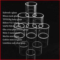 ingrosso vomitare il goblin-Subvod-c Minos Billow V2.5 VAPE PEN 22 Obs Crius Plus Melo 3 Nano Merlin Mini Goblin Mini v3 Tubo in vetro di ricambio Pyrex
