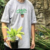 Wholesale pink pots - Box logo Hip Hop Potted Plant Tee Skateboard Cool T-shirt Men Women Cotton Casual TShirt