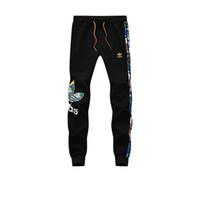 jogger hose sport großhandel-Plus größe L-5XL mens designer jogger neue gestreifte brief drucken sporthose für männer mode baumwolle männer jogginghose freies verschiffen