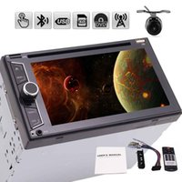 Wholesale universal double din car dvd resale online - Rearview camera car radio din automagnitola din double din car dvd player universal in dash headunit inch points Multi touch Screen