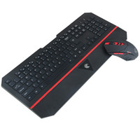 Wholesale multimedia designs - E780 Wireless Keyboard and Mouse Combo Silent 2.4GHz Ultra Thine Multimedia Ergonomic Design Keyboard For Computer