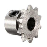 Wholesale teeth motor for sale - Group buy 8mm Bore Teeth Metal Gear Motor Roller Chain Drive Sprocket