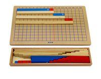 montessori malzemeleri toptan satış-Montessori Malzeme Ekleme Çıkarma Matematik Kurulu Çocuk Çocuk Eğitim Matematik Sayma Oyuncaklar