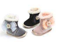 bebek bot satışı toptan satış-Moda Bebek çizmeler Kış Bebek Kız / erkek Ayakkabı Saçak tasarım Yenidoğan çizmeler Mocs sıcak satış prewalkers