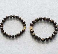 modèles de perles noires achat en gros de-Authentique bracelet en pierre de diamant naturel météorite noir plus perles de plaquette chanceux cercle unique couple modèles bracelets ventes directes d'usine