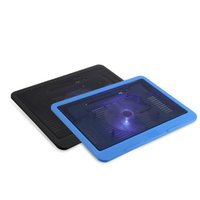 Wholesale fan laptop stand cooling cooler - Super Quiet Laptop Cooler Cooling Pad Base Big Fan USB Stand for 14