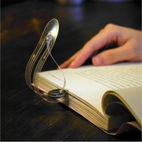 batterie mini led livre lumière achat en gros de-Flexible LED Light Book Mini Creative Bookmark lampe de table lumineuse nouveauté nuit Bouton batterie pince de lecture Lampes de lecture pour ordinateur portable
