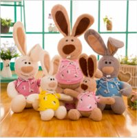 забавные чучела животных оптовых-Горячие продажи прекрасный кролик кукла милые чучела животных кролик плюшевые игрушки смешные Валентина подарок украшения дома подарки