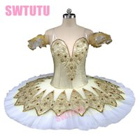 Wholesale stag costumes for sale - Gold Professional Ballet Tutu Women Classical Stag Fairy Ballet Tutu Dress Girls Ballerina Pancake Costume Kids BT9132D