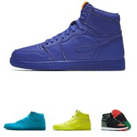 Wholesale day heating - New 1 Gatorade Basketball Shoes Mens Blue BHM OG G8RD Fly Line 1s I Mike UNC High Skateboard Sport Authentic Homme Shoe wholesale