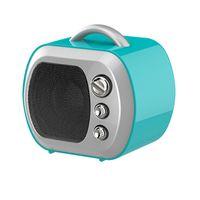 ingrosso mini altoparlanti per tv-Mini Altoparlante Modello TV Altoparlanti Bluetooth Radio FM Boombox Retro TV portatile Soundbar Amplificatore musicale per smart phone