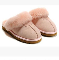 chocolate caliente de calidad al por mayor-VENTA CALIENTE 2018 WGG de alta calidad zapatillas de algodón caliente Hombres y mujeres zapatillas Botas de mujer botas de nieve diseñador zapatillas de algodón de interior