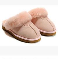 bottes de neige d'intérieur achat en gros de-VENTE CHAUDE 2018 haute qualité WGG coton chaud pantoufles hommes et femmes pantoufles bottes femmes neige bottes concepteur coton intérieur pantoufles