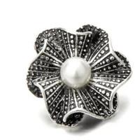 Wholesale bronze bracelet accessories online - Hot sale DIY mm noosa charm snap button antique silver antique bronze pearl jewelry snap charm jewelry accessories fit bracelet