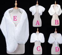 Wholesale white fur bridal - Only $6.99 Cheap Bridal Wraps Bolero Faux Fur For Wedding Evening Party Prom Jacket Coat Winter White Fur Shawl Wedding CPA1272