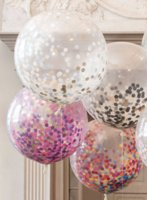 Wholesale Latex Flowers Balloon - 2018 hot seller Hot balloon 36 inch round paper confetti Balloon Party simulation flower confetti throwing with large coloured latex balloon