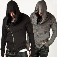 cardigan assassins assassins achat en gros de-Marque Design Hommes Hoodies Hop Standard Streetwear Zipper De Mode Sweat Survêtement Des Hommes Hommes Assassins Creed Hoodies