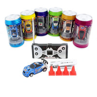 Hot selling Free shipping Mini Racer Remote Control Car Coke Can Mini RC Radio Remote Control Micro Racing 1:63 Car Random Color