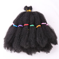 Wholesale afro twist braiding hair resale online - Fashion Mega Afro Kinky twist Synthetic Hair quot Crochet Braid Hair For Black Women Hair Extensions