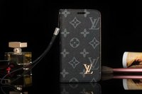 capa de couro de luxo galaxy note venda por atacado-Para samsung s10 s9 s8plus luxo leather case para iphone x xs max xr 8 7 6 plus moda carteira tampa do telefone proteção coque para galaxy note 8