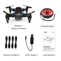 contrôle radio par hélicoptère 4ch achat en gros de-JJRC H53W Mini Drone Pliable Ombre Quadricoptère Wifi FPV 480P HD Caméra APP Contrôle G-capteur Quadricoptère Drone Pocket RC Selfie Drone Une clé