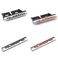 Wholesale audi quattro emblem - Old Style Quattro car Grille Badge auto Rear Trunk Emblem Sticker For A4 A6 A7 A8 S3 S4 S6 Q5 Q7 TT RS