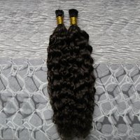Wholesale stick tip hair extensions 26 resale online - 8A I Tip Human Hair Extension g Brazilian Deep Curly Keratin Stick Tip Hair Extensions s Fusion Hair Extensions Natural Capsules