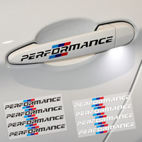 Wholesale black white stickers for cars resale online - 4PCS SET Car Styling Car Door Handle Car Stickers Performance Decoration Universal For BMW f30 f34 f10 e46 e39 e60 e90 e70 e71 x1 x3 x5 x6