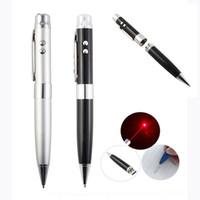 stylo usb achat en gros de-stylo à bille personnalisé + pointeur laser + lumière de test d'argent + clé USB, stylo cadeau USB 5 en 1 clé USB