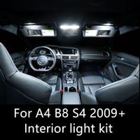 oto kubbe lambası toptan satış-Shinman14pcs Hata Ücretsiz Oto Led Ampuller Araba LED İç Işık Kiti Dome Lamba AUDI A4 B8 S4 aksesuarları 2009-2015 Için iç