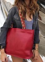 gute qualität handtaschenmarken großhandel-Gute Qualität 36CM XLarge Schwarz Echtes Leder Shopping Tote mit Mäppchen Innen Frauen Marke Umhängetasche Handtasche Guter Preis