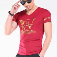 dessins de chemises pour hommes achat en gros de-Homme si Tun Nouvelle Conception Top Mode De Mode D'été Hommes T-shirt Hommes Tops Manches Courtes T-shirt Casual T-shirt Mâle T-shirt Marque