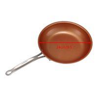 keramik-kochwerkzeuge großhandel-Neue Safari Messing Topf Keramik Nicht-Stiel Pan Für Milch Suppe Topf Bratpfannen Pfanne Pan + 24cm9. 5