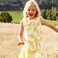 b5caca4c8 ropa de los cabritos vestido amarillo al por mayor-Vestidos amarillos para  niñas de manga