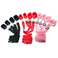 Wholesale pink adult bedding for sale - Group buy Adult sex toys binding bed straps sex toys adult supplies bed bound hands and feet short plush