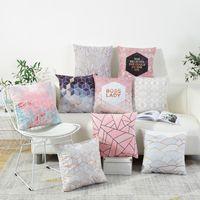 Wholesale cushion covers sale - New hot sale INS brief cushion covers North European fashion pillow cushion sofa office decoration pillowcase Flannelette material
