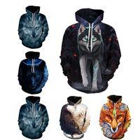 kurt galaksisi hoodies toptan satış-Hoodies Kurt Sanat 3d Erkekler Baskı Galaxy Hoodie Kurt Komik Kazak Kazak Eşofman Ceket Drop Shipping Çiftler S-5XL Tops