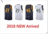 Wholesale M Jazz - Men's 2018 New basketball Jersey Gobert Mitchell Blue White Donovan Rudy Embroidery stitched Jerseys Fast JAzz Free Shipping 27 45 uTaH