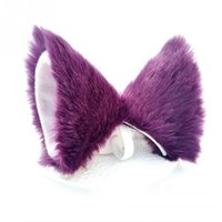 меховые клипсы оптовых-Party Club Ball Wearing Deacorate Cat  Fur Ear Pattern Hair Clip Hair Accessories