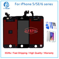 Wholesale Lcd Display Iphone Tools - Wholesales Grade A+++ LCD Display For iPhone 5 5S 5C SE Or 6 6s 6 Plus 6S Plus Touch Screen Digitizer With free tools +Free DHL Shipping