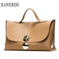 Wholesale black leather hand bags - Fashion Luxury Lock Women Handbags High Quality Pu Leather Bags Handbags Women Famous Brands Big Capacity Ladies Hand Bags Sac