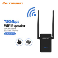 wifi repeaters NZ - 802.11AC WIFI Router Wifi repeater 11AC Dual Band 750Mbs Comfast Wireless WI FI Router Extender amplifier English firmware