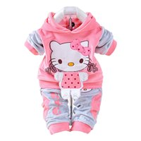 Wholesale cow clothing for sale - Autumn Baby Girls Clothes Tuzki Hellokitty Cow Suit Cute Hoodie Baby Sweatshirt Top Tracksuit Long Sleeve Infant Girl Clothing