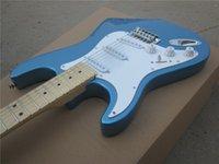 ingrosso marche della chitarra della porcellana-Chitarra elettrica nuova mano sinistra ST blu COLOR oem BRAND chitarra elettrica / chitarra in porcellana