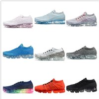 Wholesale Grey Rubber Bands - New Vapormax Mens Running Shoes For Men Sneakers Women Fashion Athletic Sport Shoe Hot Corss Hiking Jogging Walking Outdoor Shoe