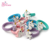 Wholesale Hair Clip Holders For Girls - XIMA 16pcs lot Cartoon Unicorn Hair Accessories Set Hair Clip Unicorn Headband for Lovely Girls Headwear