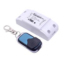 funkfernbedienung schalter empfänger großhandel-Sonoff 433Mhz RF Receiver RF WiFi Smart Switch Interruptor Intelligent Remote Wireless Control für Smart Home Wi-Fi-Lichtschalter