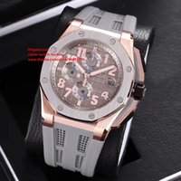 Wholesale Factory Stone - 7 Style Luxury AAA+ Quality Watch N8 Factory 44mm Brand 26210OI.OO.A109CR.01 18k Rose Gold VK Quartz Chronograph Workin Mens Watch Watches